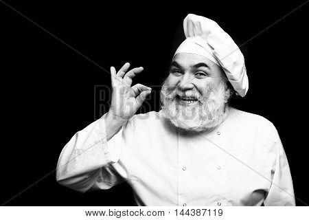 Happy Bearded Cook