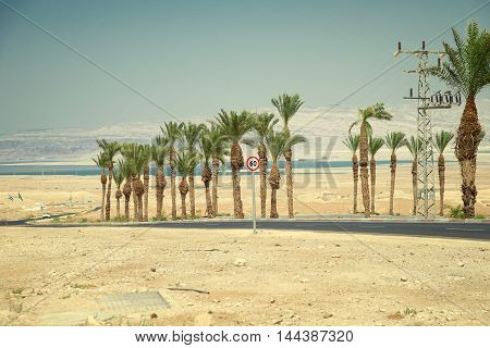 road from Masada to the Dead Sea