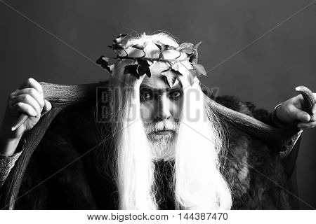 Zeus God With Antlers