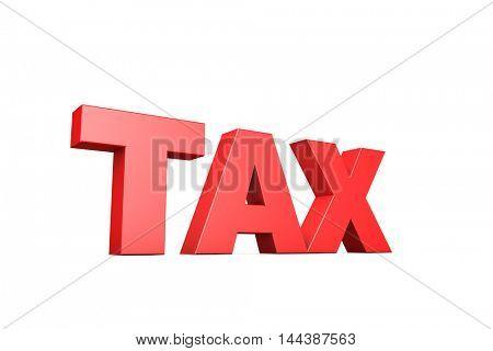 3d illustration word tax