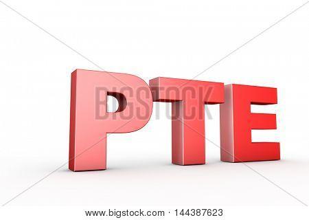 3d illustration sign pte