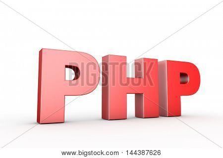 3d illustration sign php