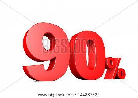 3d illustration business number 90 percent
