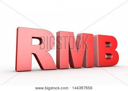 3d illustration sign rmb