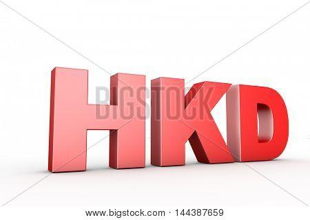 3d illustration sign hkd