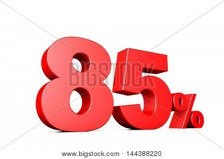 3d illustration business number 85 percent