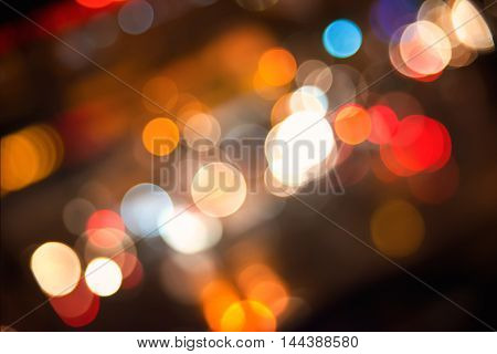 background with blurred lights of the city at night