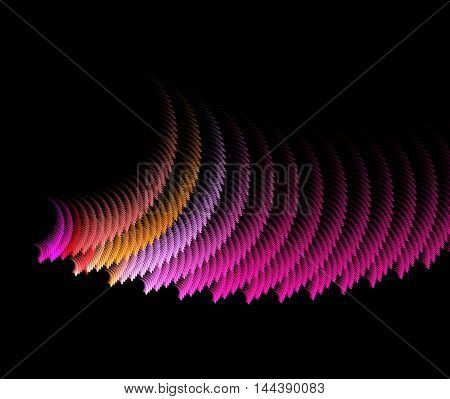 Abstract swirling pink fractal computer generated image