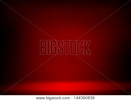 red metal space background