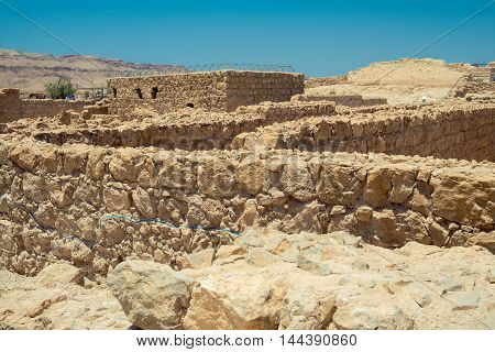 Masada - ancient fortress in the south-west coast of the Dead Sea in Israel.