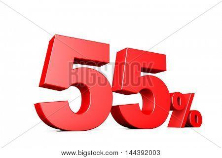 3d illustration business number 55 percent