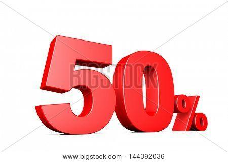 3d illustration business number 50 percent