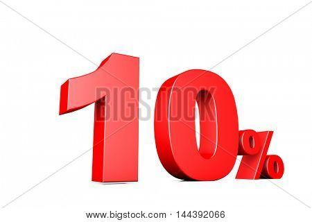 3d illustration business number percent