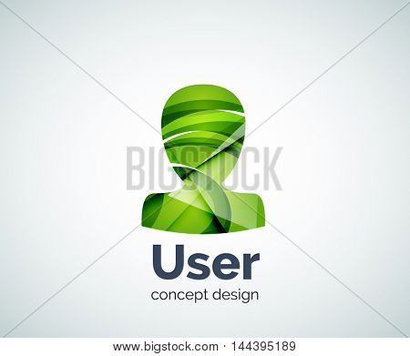 User avatar logo template, abstract geometric glossy business icon