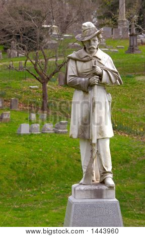 Graves And Monument To Confederate Soldiers Kentucky Usa