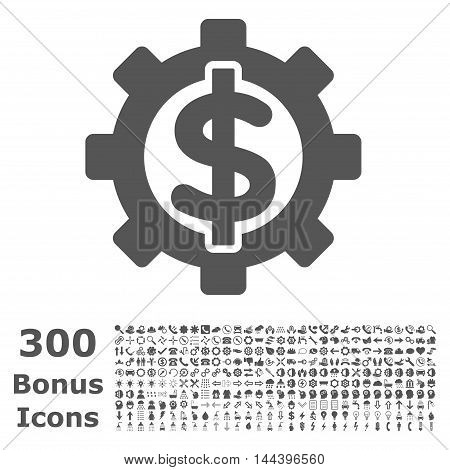Financial Options icon with 300 bonus icons. Vector illustration style is flat iconic symbols, gray color, white background.