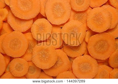 Sliced Raw Carrot Background