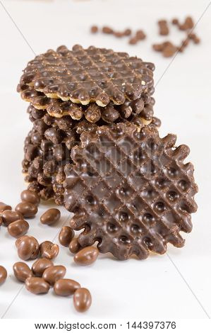 Chocolate Covered Round Homemade Cookies