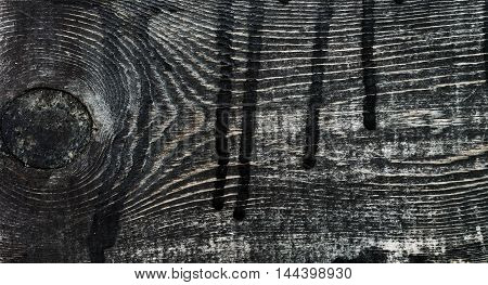 Black and white wood planks texture with signs of aging