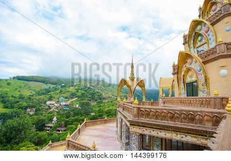 Khao Kor Thailand - August 2 2016 : Wat Pha Sorn Kaew temple the public buddhist monastery and temple in Khao Kor Thailand