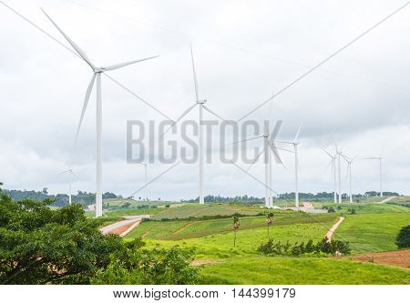 A panorama wind farm in Khao Kor Thailand