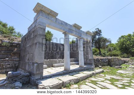 The ruins of the ancient city of Caunos in Dalyan in Turkey.
