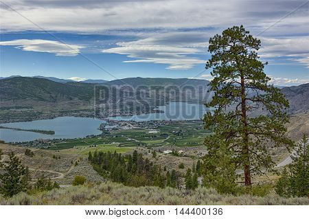 View of Osoyoos from Anarchist Mountain Okanagan Valley British Columbia Canada