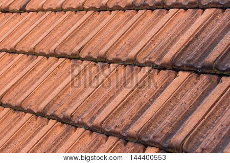Red Roof Tiles , Vintage Roof Background