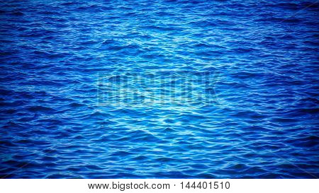 Blue sea and waves -  background texture