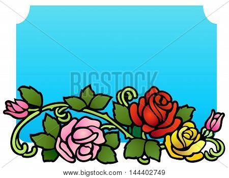 Roses and rosebuds in an updated Victorian style.