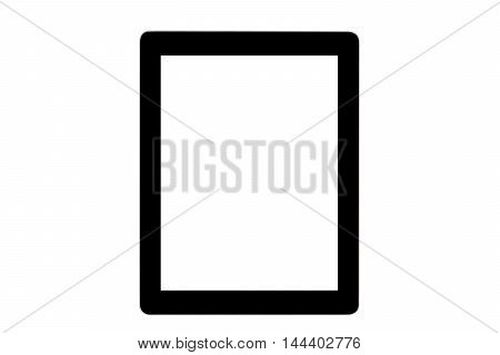 Isolate Black ipad on white background for business