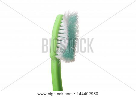 Used old tooth brush on a white background