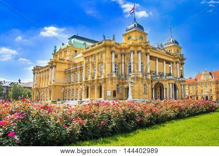 Croatian national theater in down town Zagreb, Croatia