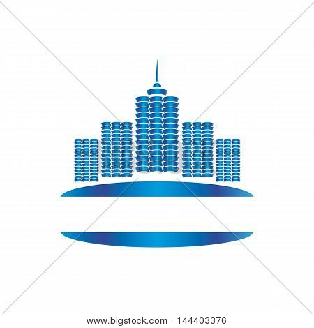Logo high-rise buildings for business companies and firms.