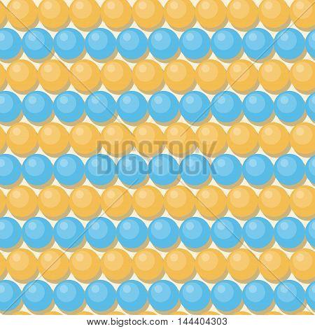 Beads Seamless Pattern Background. Flat Style.