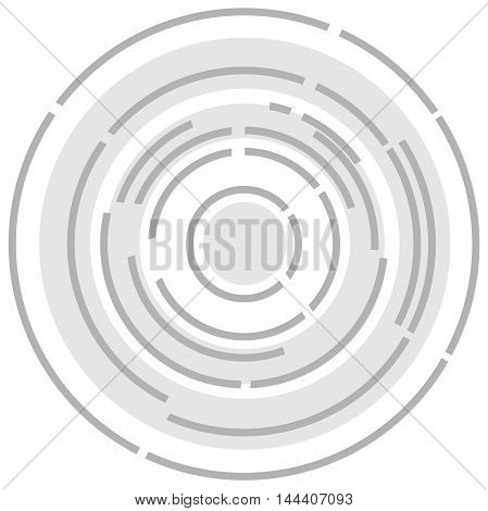 A circular maize style lens abstract background image