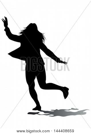 Young women in fitness classes on white background