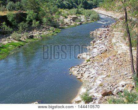 Beautiful view of the riverside (Pampilhosa da Serra - Portugal)
