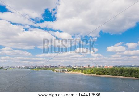 River In Novosibirsk City In Summer