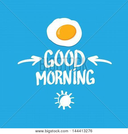 Fried Egg vector illustration. good morning concept. breakfast fried hen or chicken egg with a orange yolk in the centre of the fried egg.