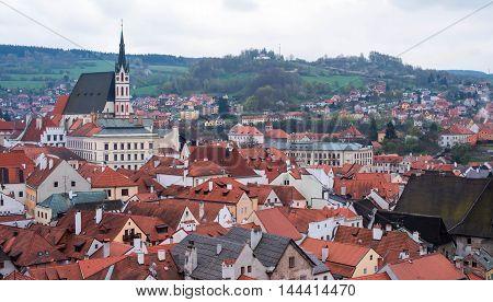 Cityscape Of Cesky Krumlov, Czech Republic