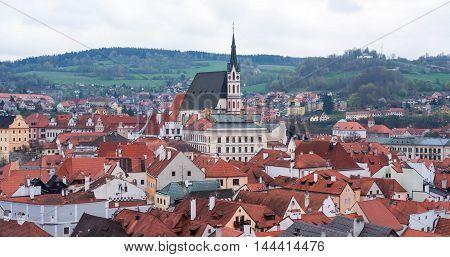 Cityscape of Cesky Krumlov in Czech Republic