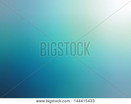 Abstract Gradient Turquoise Blue Teal White Colored Blurred Background