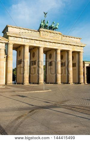 View of the Brandenburger Tor in Berlin in the early morning