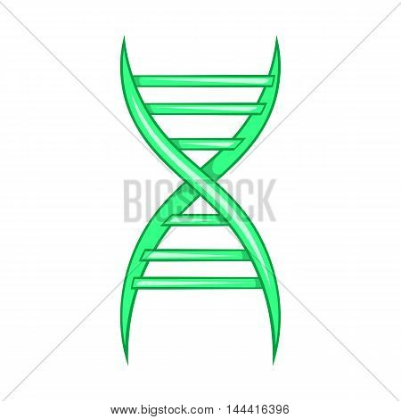 DNA strand icon in cartoon style on a white background