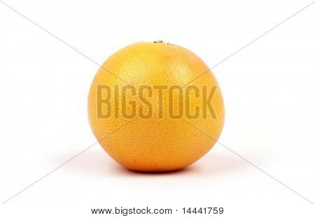 Yellow bitter grapefruit isolated on white background