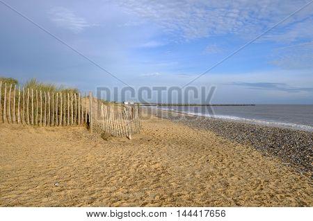 The beautiful sandy beach at Walberswick, near Southwold, Suffolk.
