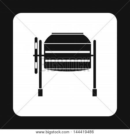 Concrete mixer icon in simple style isolated on white background. Construction symbol
