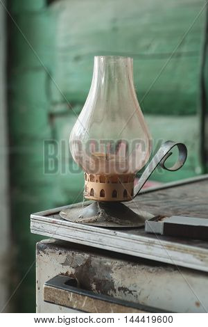 Old Candle Holder With Matches