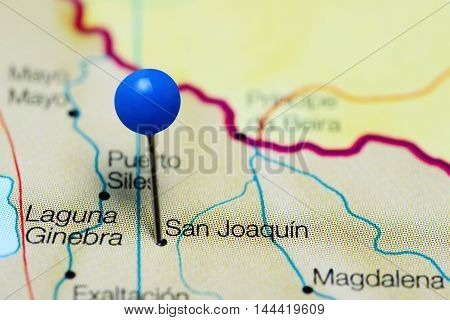 San Joaquin pinned on a map of Bolivia